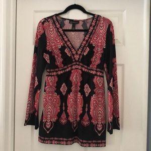 INC paisley blouse